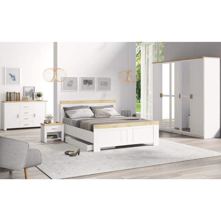 00965db087b1 Spálňový komplet (5dv. skriňa+2x nočný stolík+posteľ 160x200)