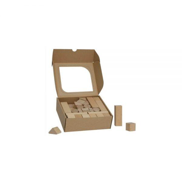 Detské drevené kocky 50 ks