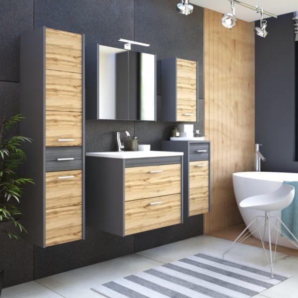ArtCom Kúpeľňový komplet IBIZA Antracit