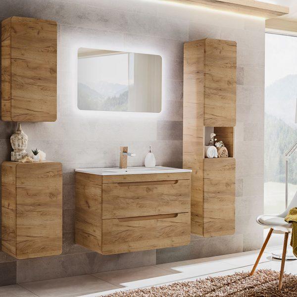 ArtCom Kúpeľňový komplet Aruba Craft 80 | dub craft zlatý