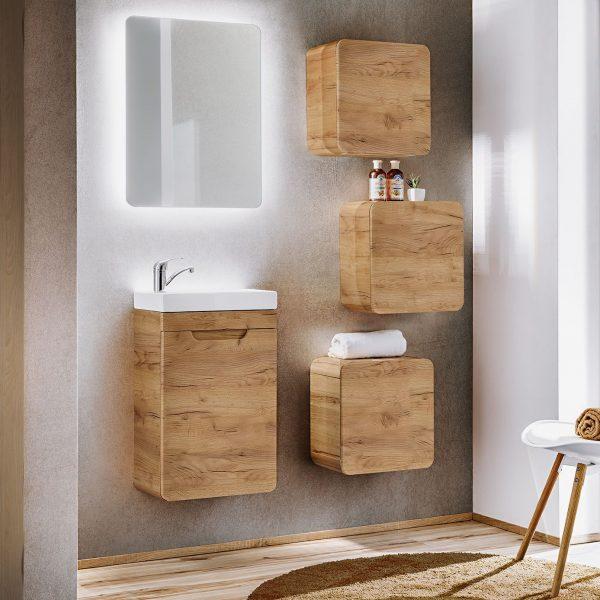 ArtCom Kúpeľňový komplet Aruba Craft 60 | dub craft zlatý